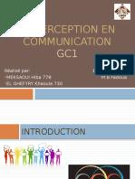 La Perception en Communication