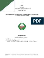 Dentification & Classification of Soil.doc