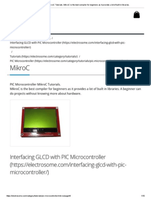 PIC Microcontroller MikroC Tutorials pdf   Arduino