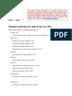 2014 India Synposis