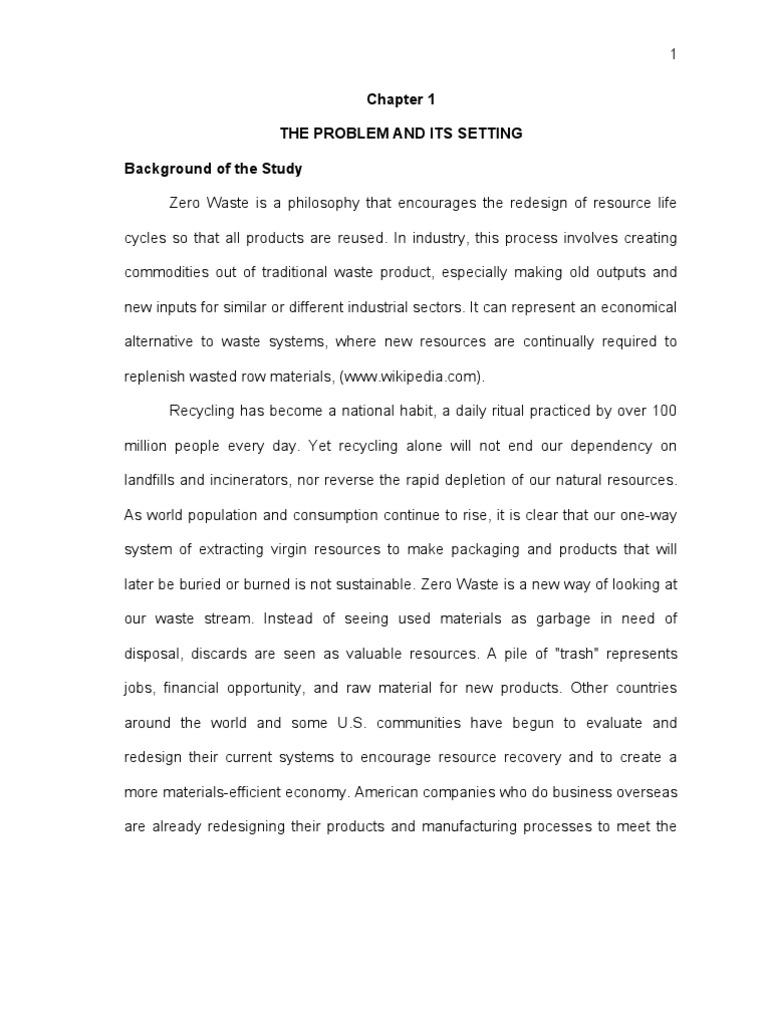 9 Interesting Waste Management Dissertation Ideas