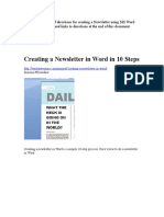 Creating a Newsletter in MSWord