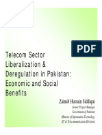 Telecom Sector Liberalization & Deregulation in Pakistan