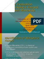 Evaluation of Workplace Hazard- CO PPT