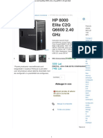 HP 8000 Elite C2Q Q6600 2.40 GHz