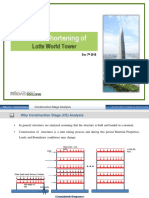 Introduction to Column Shortening Analysis - Case Study of Lotte Tower