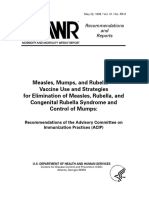 Mmr Vaccine Use and Strategies