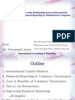 Survey of Research on the Relationship between International Capital Markets & Financial Reporting by Multinational Companies