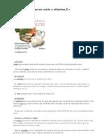 Alimentos Ricos en Calcio y Vitamina D