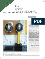 Generador de Van Graff