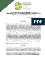 FATORES DE SUCESSO EM EMPREENDIMENTOS INCUBADOS EM PARQUES TECNOLÓGICOS .pdf
