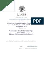 Resumen Historia de Los Barnices Para Instrumentos de Cuerda Frotada.  Estado Del Arte y Reflexiones
