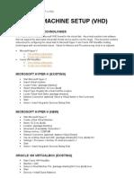 Virtual Machine Setup (VHD)