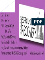 Surrounded by Recovery SAVE-THE-DATE