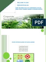Csr activities of govt bank of bangladesh