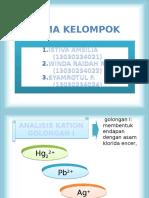 Analisis Kation Golongan 1 Dan 5 - New Presentation