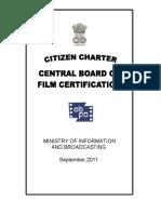 Citizen Charter - CBFC