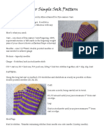 Super Simple Sock Pattern