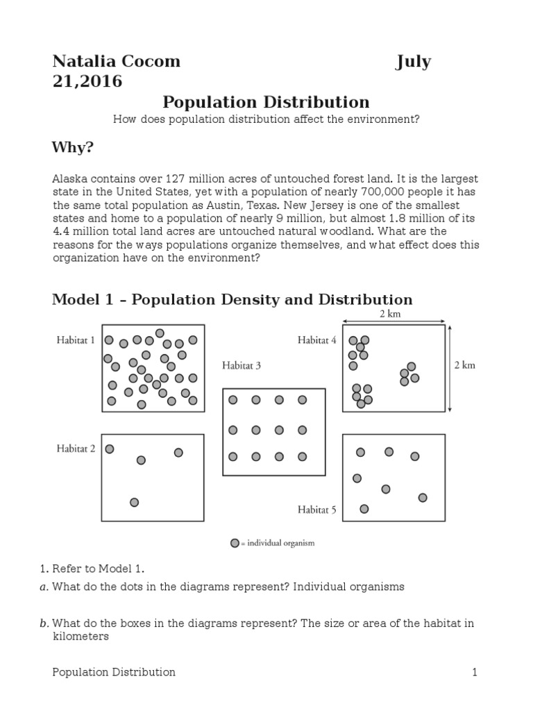 Worksheets Population Density Worksheet worksheet population density mytourvn study site 28 distribution natalia natural environment ecology