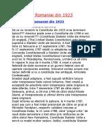 Constitutia Romaniei Din 1923