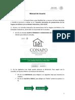 Manual de Usuario de Proyeccion de Hogares