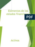 Elementos de Los Estados Financieros Presentacion