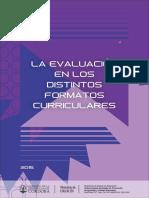 La Evaluacion en Los Distintos Formatos Curriculares