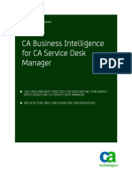 CA Business Intelligence for CAServDeskMgr ENU