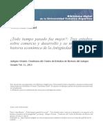Tres Estudios Comercio Desarrollo