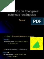 Resolución de Triángulos esféricos rectángulos