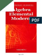 Álgebra Elemental Moderna Vol.1  Gonzales, J. D. Mancill - 1ed