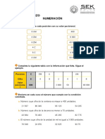 Ficha de Refuerzo de Numeracion