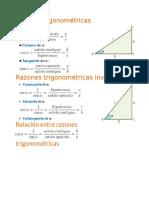 Formulas de Identidades Trigonometricas