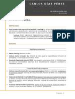 Curriculum Vitae Carlos Díaz Pérez