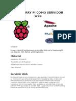 Raspberry Pi Como Servidor Web (1)