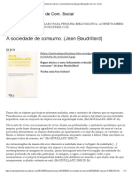 FICHAMENTO - A Sociedade de Consumo -Jean Baudrillard