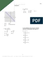 AP Calc AB S1-Part A Practice 1