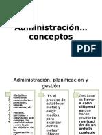 Administración conceptos