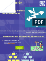 Analisis y Seleccion de Alternativas