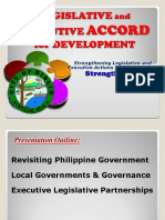 Strengthening the LEAD (Legislative and Executive ACCORD for Development)