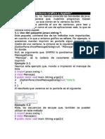 Entorno grafico y applets