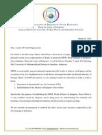 1st HWPL WARP DialogueInvitationLetter(Leader))