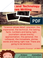Science and Tech News Writing