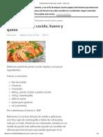 Pastel de Jamón Cocido, Huevo y Queso - Javies