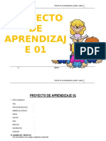 Proyecto de Aprendizaje 5º - 2015