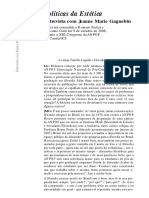 Artefilosofia 06 01 Dossie Walter Benjamin 10 Entrevista Jeanne Marie Gagnebin