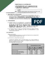 Informe Tecnico SNIP  Comisaria