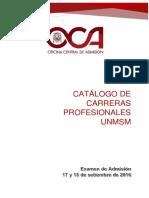 Catalogo Admision UNMSM 20171