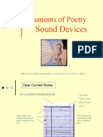 Elements of Poetry - Sound Devices PPT