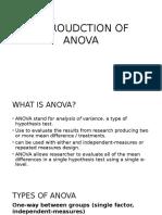 Introudction of Anova